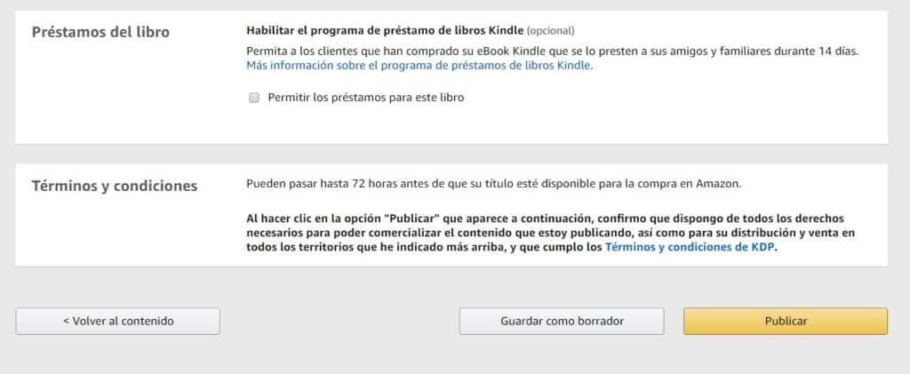 Préstamos y publicar un libro Amazon KDP
