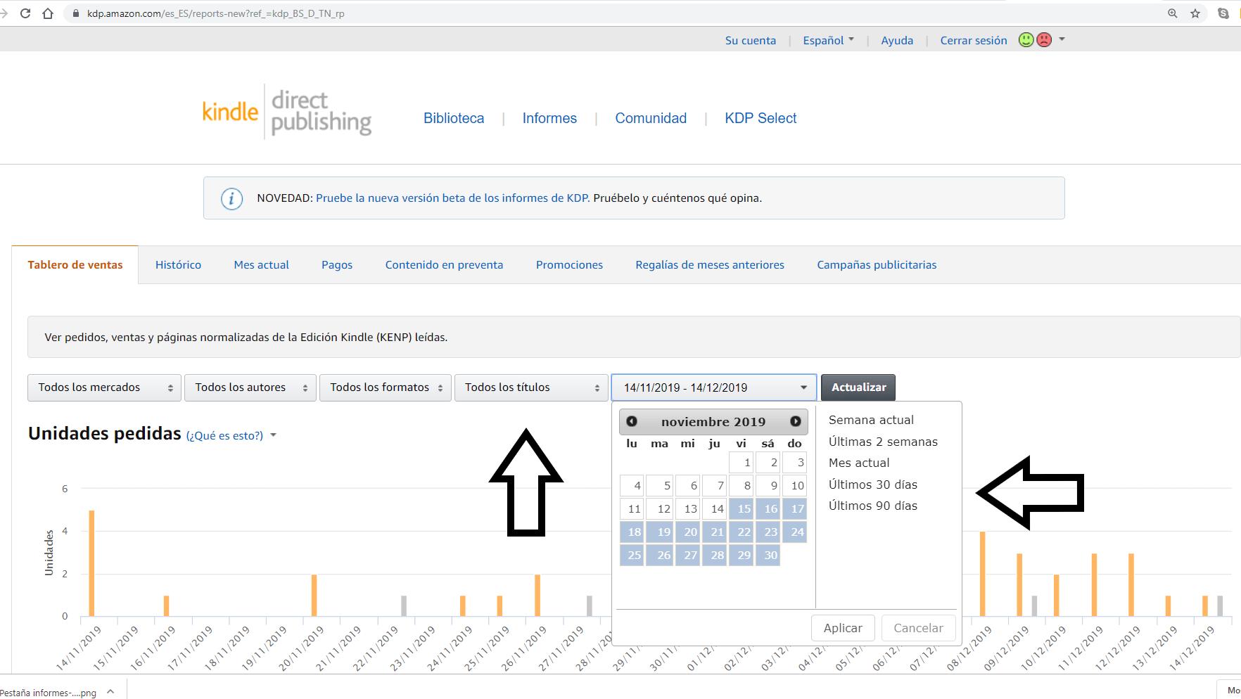 Consultar-tablero-de-ventas amazon kdp