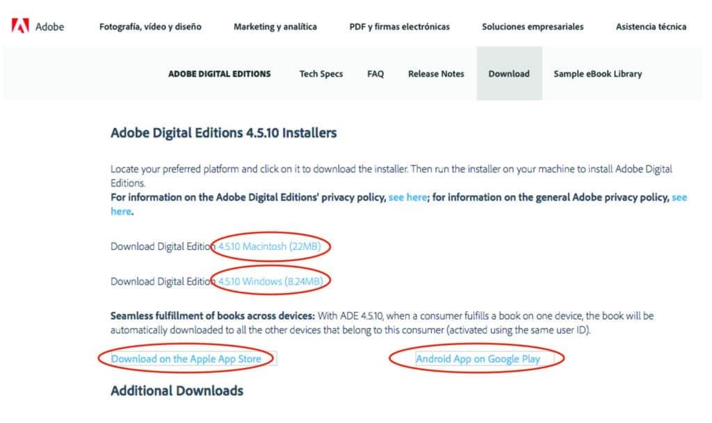 instalar Adobe Digital Editions
