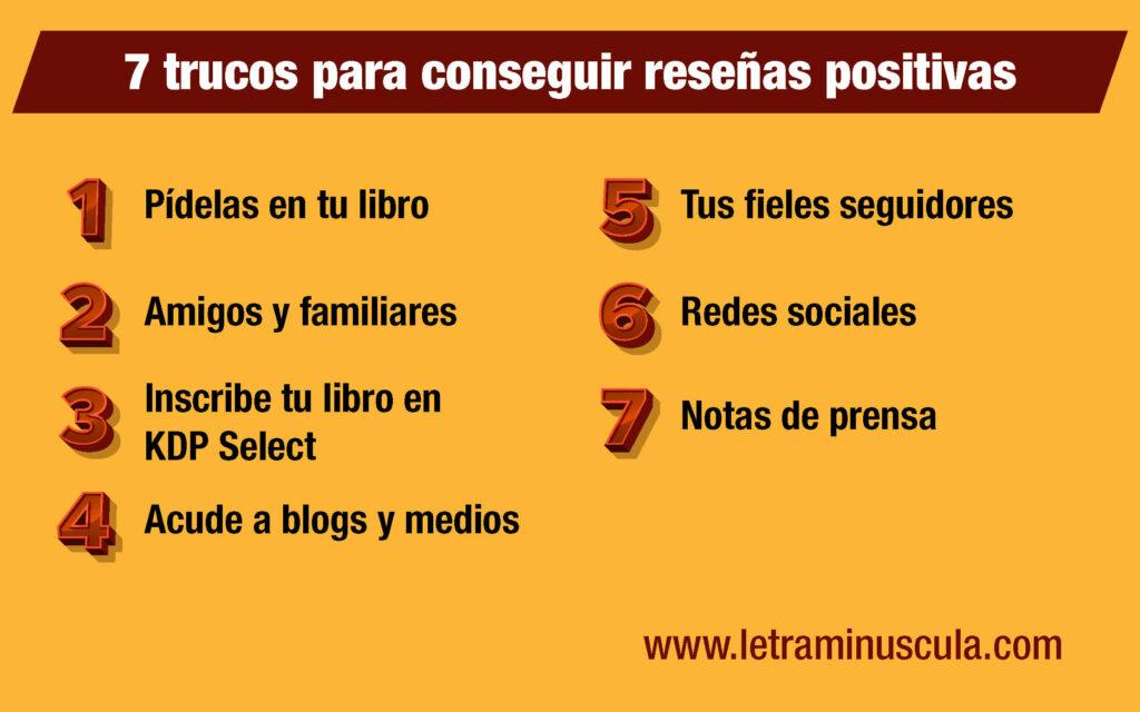 Infografía 7 trucos para conseguir reseñas positivas