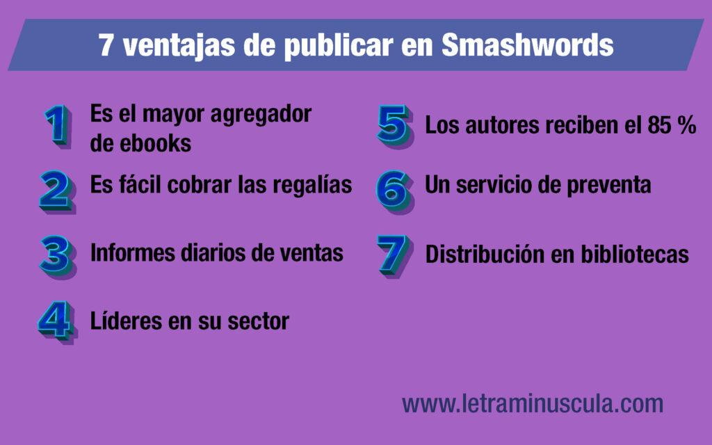 Infografía 7 ventajas de publicar en Smashwords