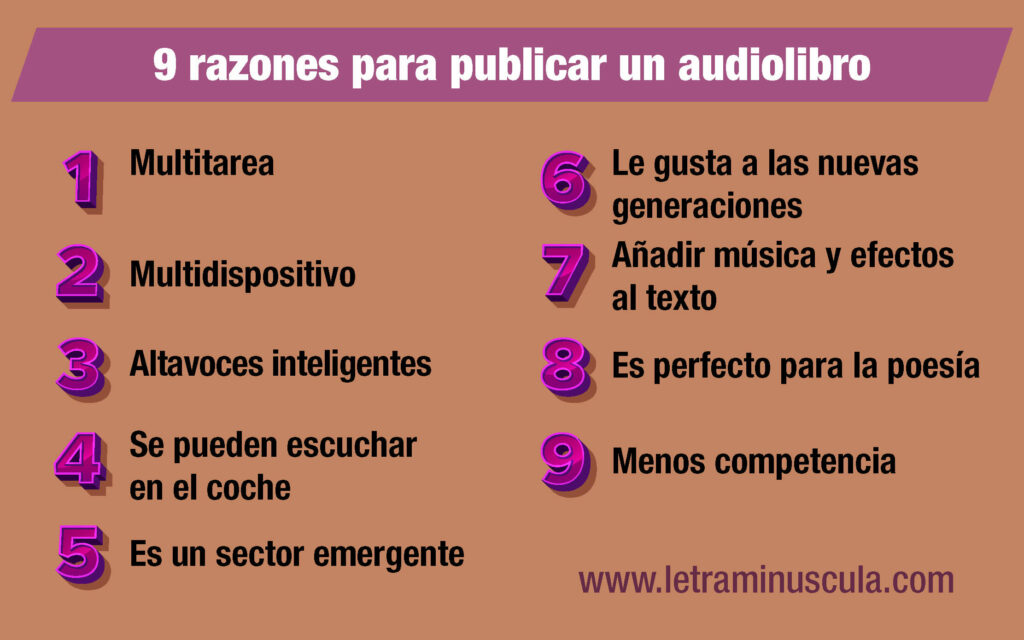 Infografía 9 razones para publicar un audiolibro