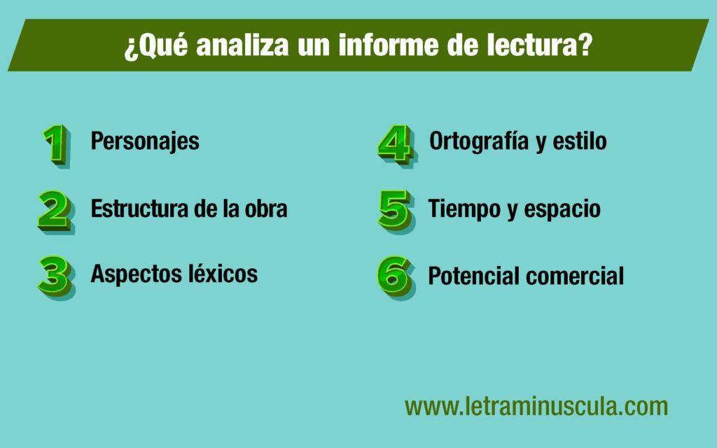 Infografía con seis consejos para hacer un informe de lectura profesional