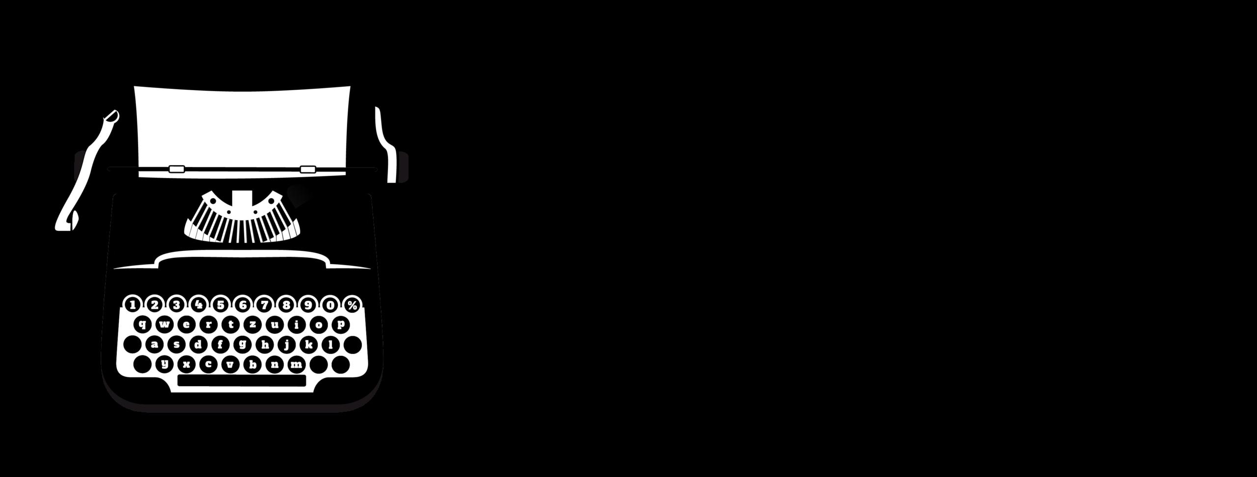 Logo Editorial Letra Minúscula lateral negro fondo transparente