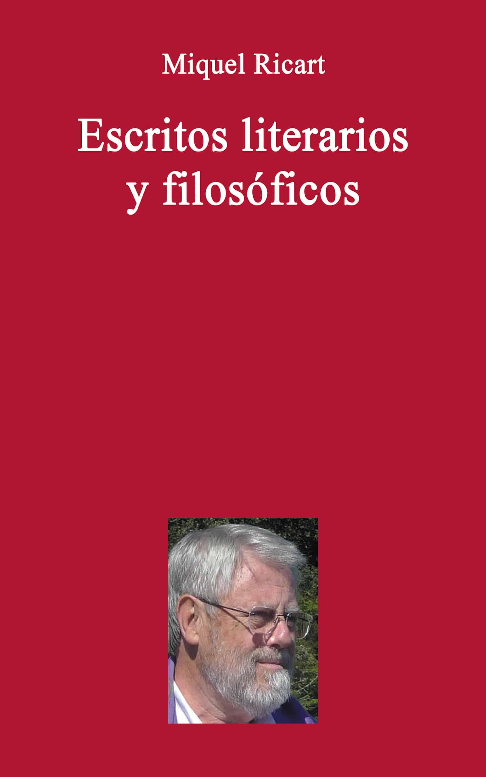 Portada EBook Escritos literarios y filosóficos MIQUEL RICART